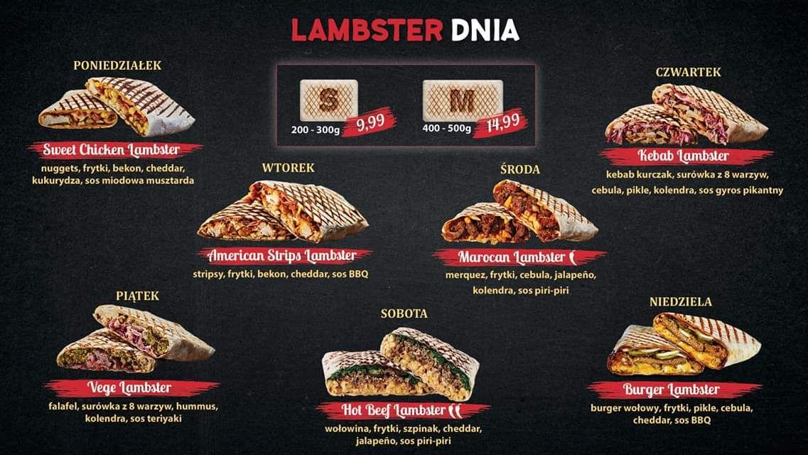 Kanapki dnia w Lamby's. Codziennie inny Lambster.