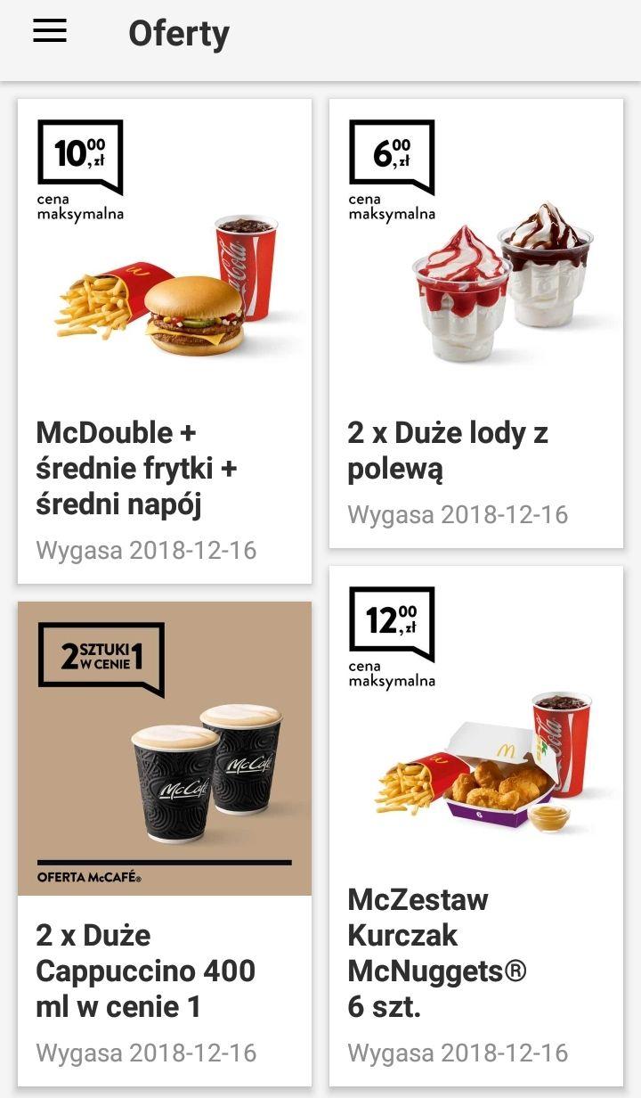 Kupony McDonald's 10-16.12. @ McDonalds