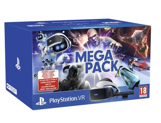 5 gier+Zestaw SONY Gogle PlayStation VR + Camera V2 +