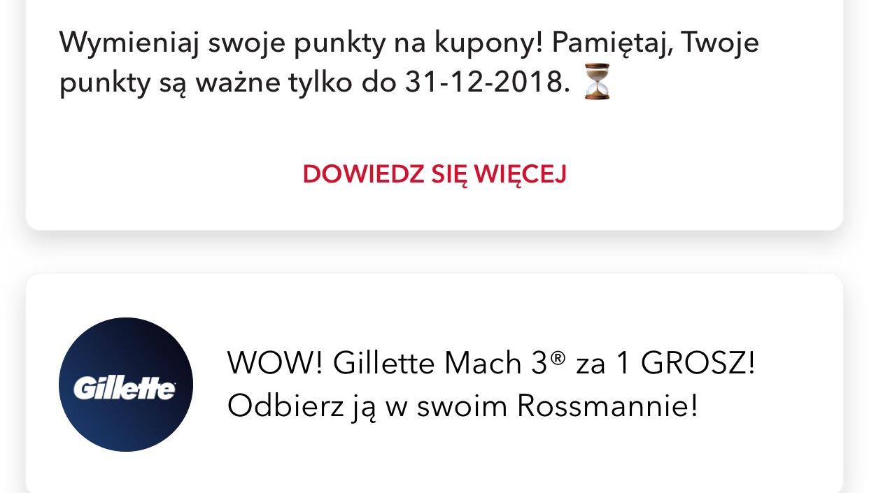 Gilette Mach3 Start za 1 grosz! W ROSSMANN