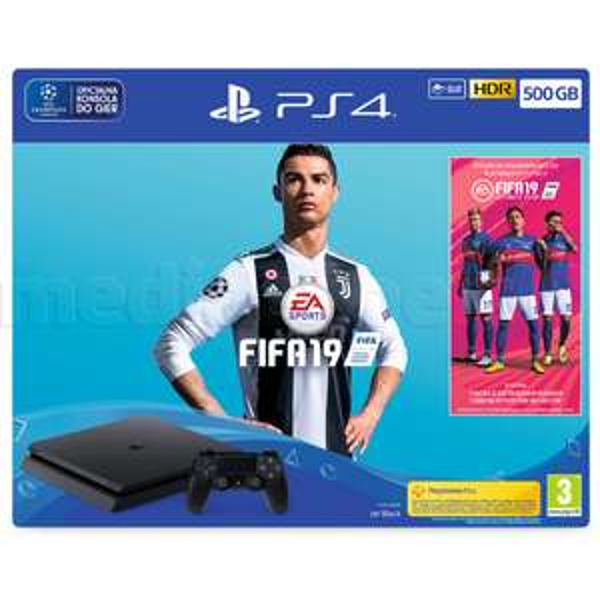 Konsola PS4 500 GB + FIFA 19