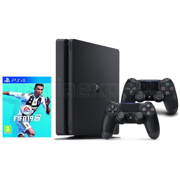Konsola SONY PlayStation 4 Slim 1TB + FIFA 19 + Kontroler DualShock 4