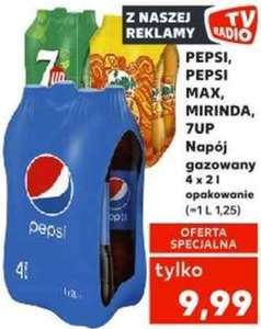 2L Pepsi, Mountain Dew, Mirinda lub 7Up (1,25zł/L) @ Kaufland
