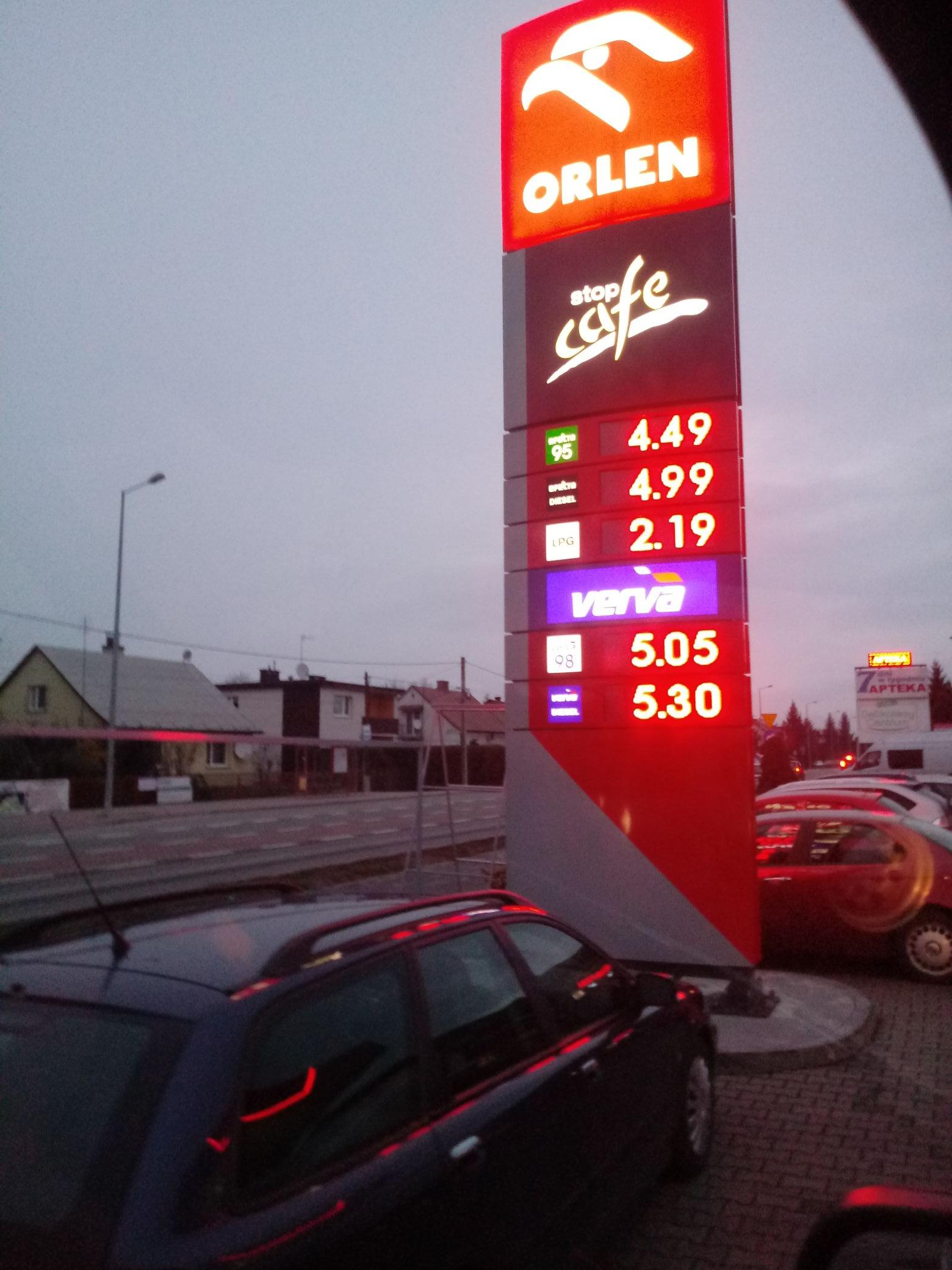 Benzyna Pb95 Orlen Mielec Wolności