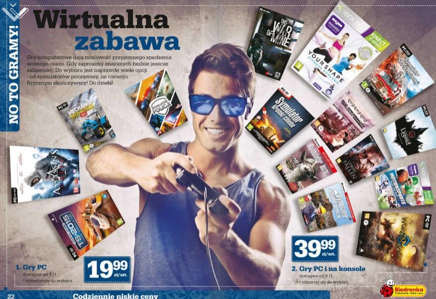Promocja na gry @ Biedronka (od 19.99 zł)