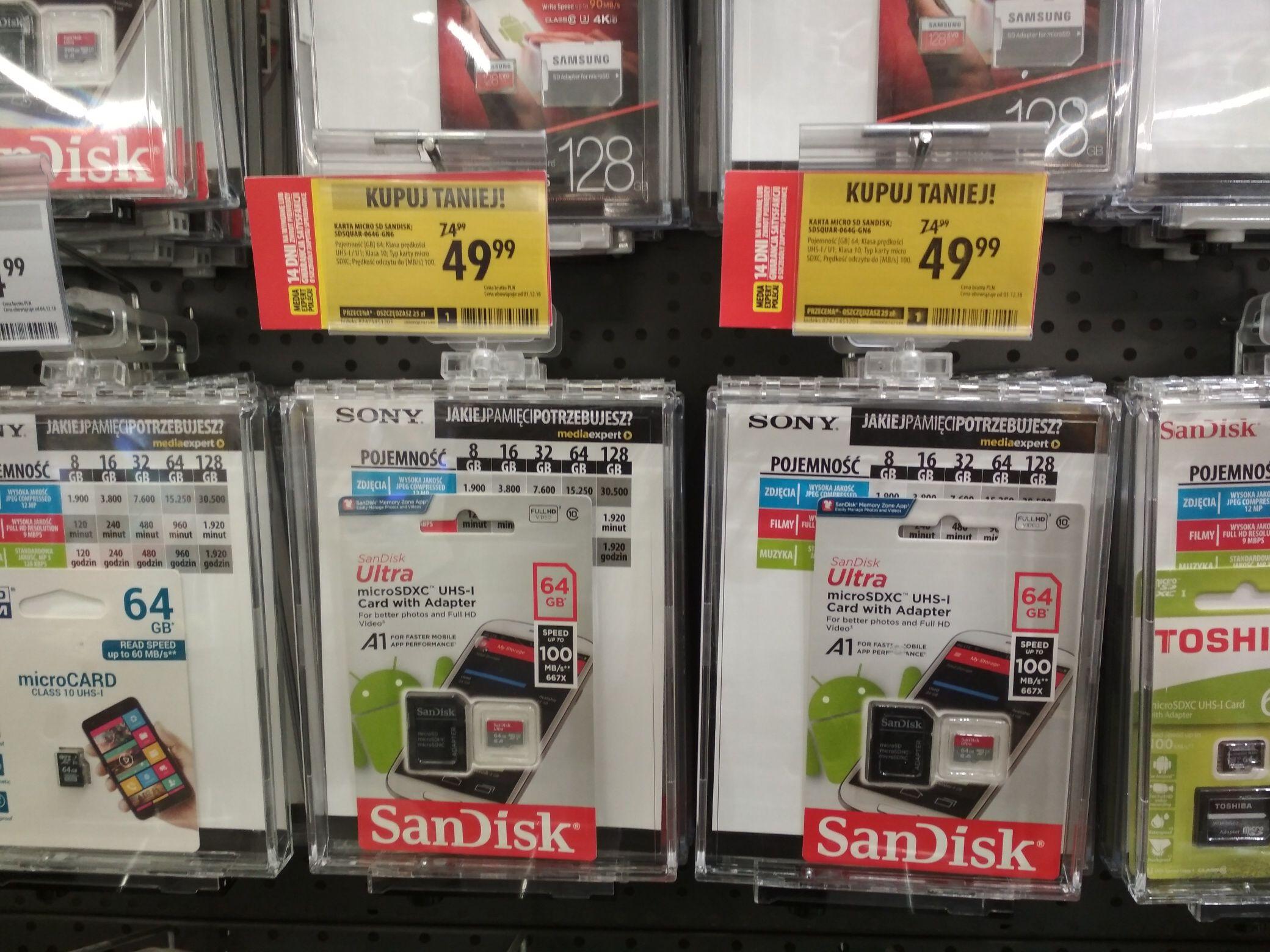 Karta pamięci 64gb UHS1 10 SanDisk MediaExpert
