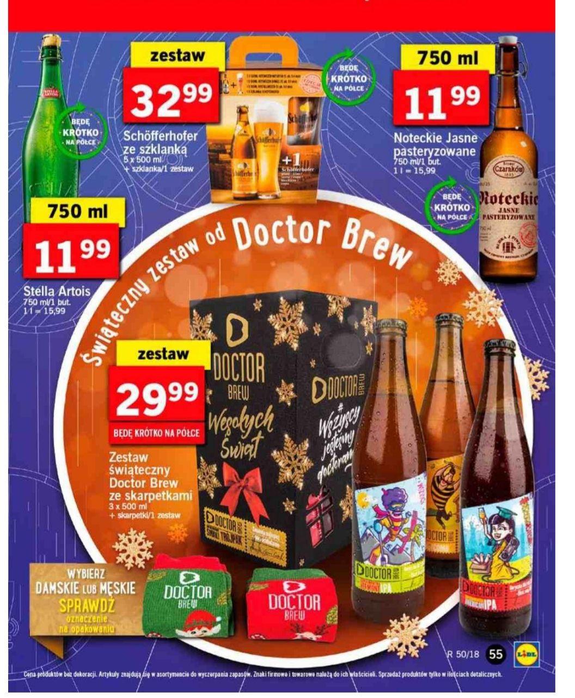 Świąteczne zestawy piw: Dr Brew + skarpetki / Schofferhofer + szkło @ LIDL
