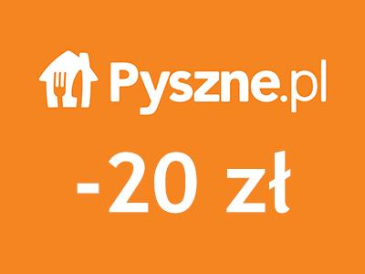 20 zł zniżki na Pyszne.pl - tylko aplikacja mobilna