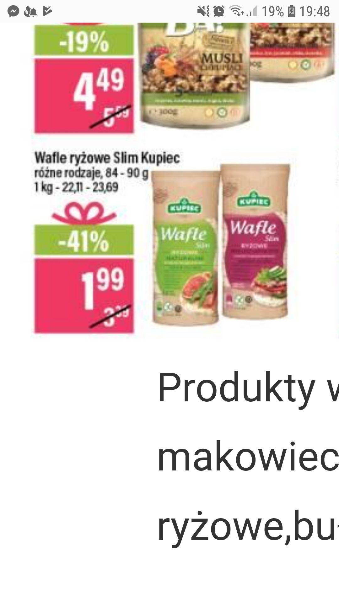 Kupiec - wafle ryżowe slim @ Mila