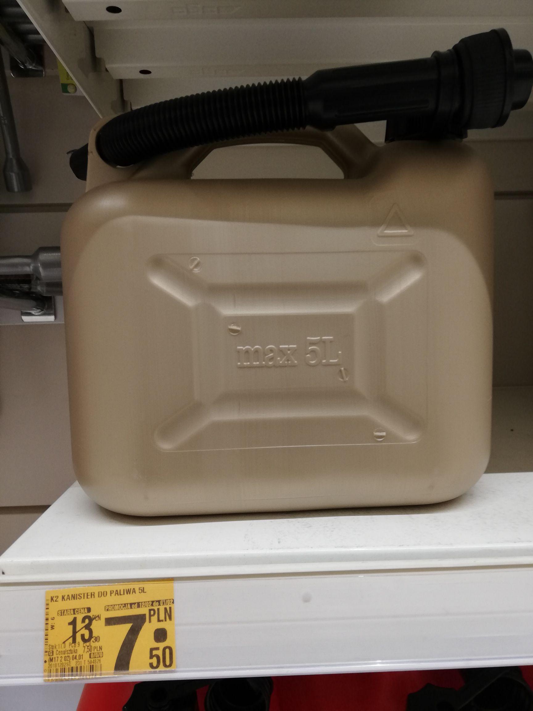 K2 Kanister na paliwo + Lejek 5l Auchan