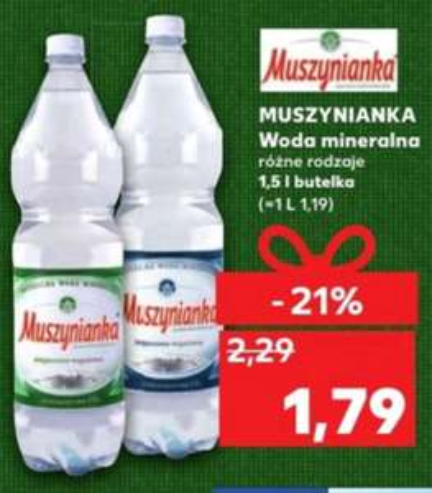 Woda Muszynianka 1,5l - Kaufland