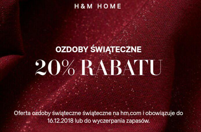 -20% na ozdoby świąteczne w H&M