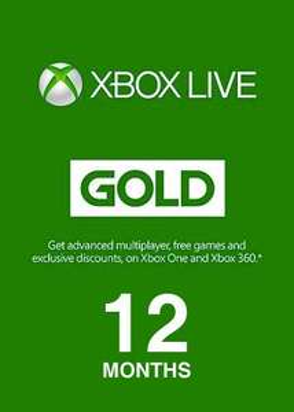 12 miesięcy abonamentu Xbox Live Gold + 3% Cashback