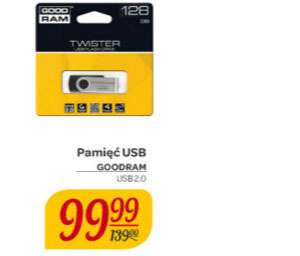 Pendrive GoodRam Twister 128GB za 99,99zł @ Carrefour