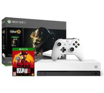XBOX ONE X Robot White Edition + RDR2 + Fallout76 + zniżki na Game Pass i Live Gold