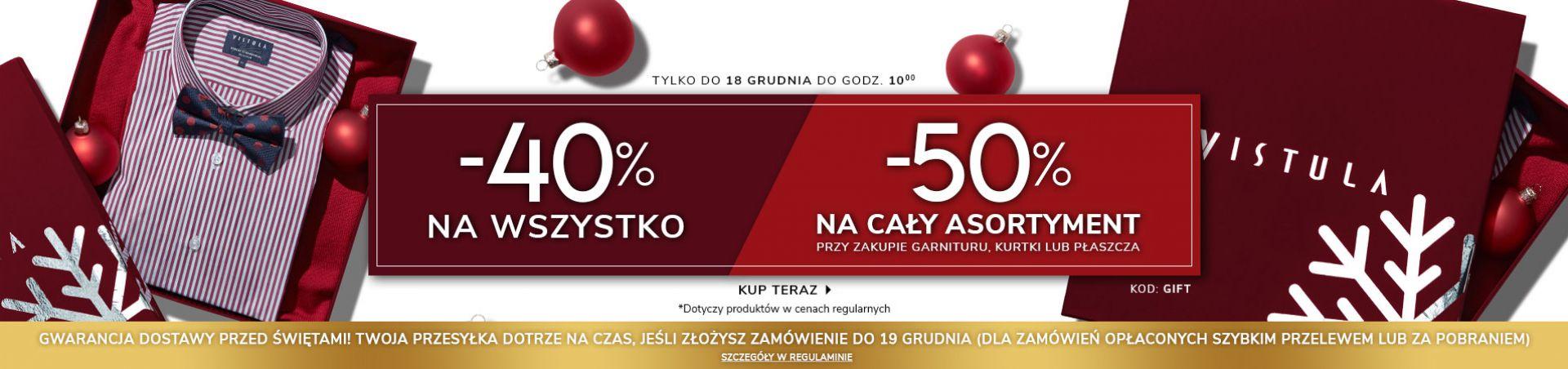 Vistula -40% na wszystko w cenach regularnych