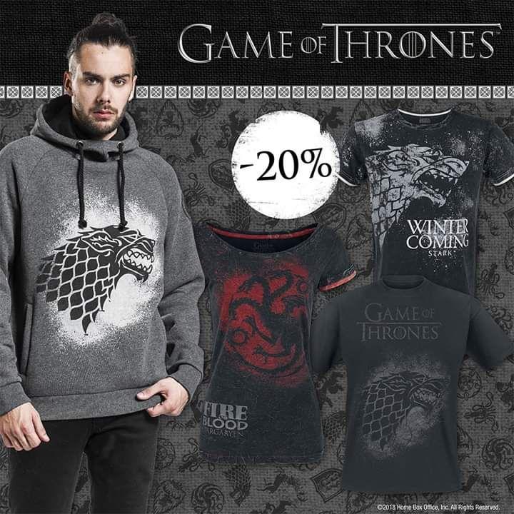 Rabat 20% na ubrania Game of Thrones