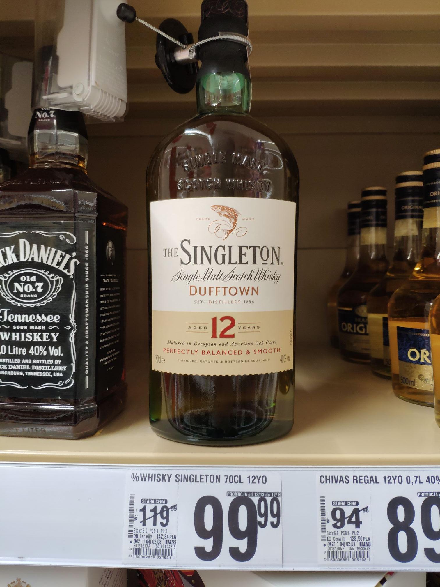 Whisky Singleton Dufftown 12YO w Auchan Hubska Wrocław