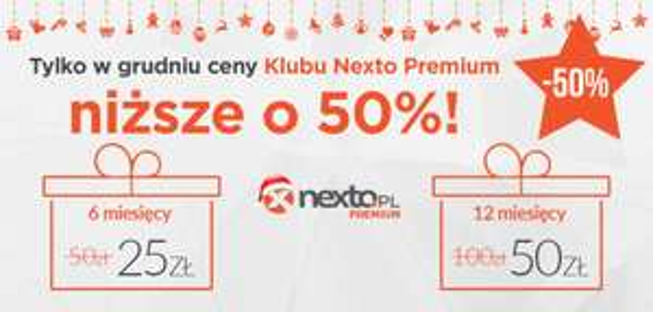 Nexto Premium o 50% taniej do końca roku!