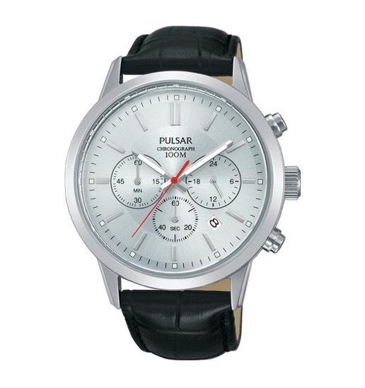 Zegarek: Pulsar Gents Chronograph Leather Strap Watch PT3749X1
