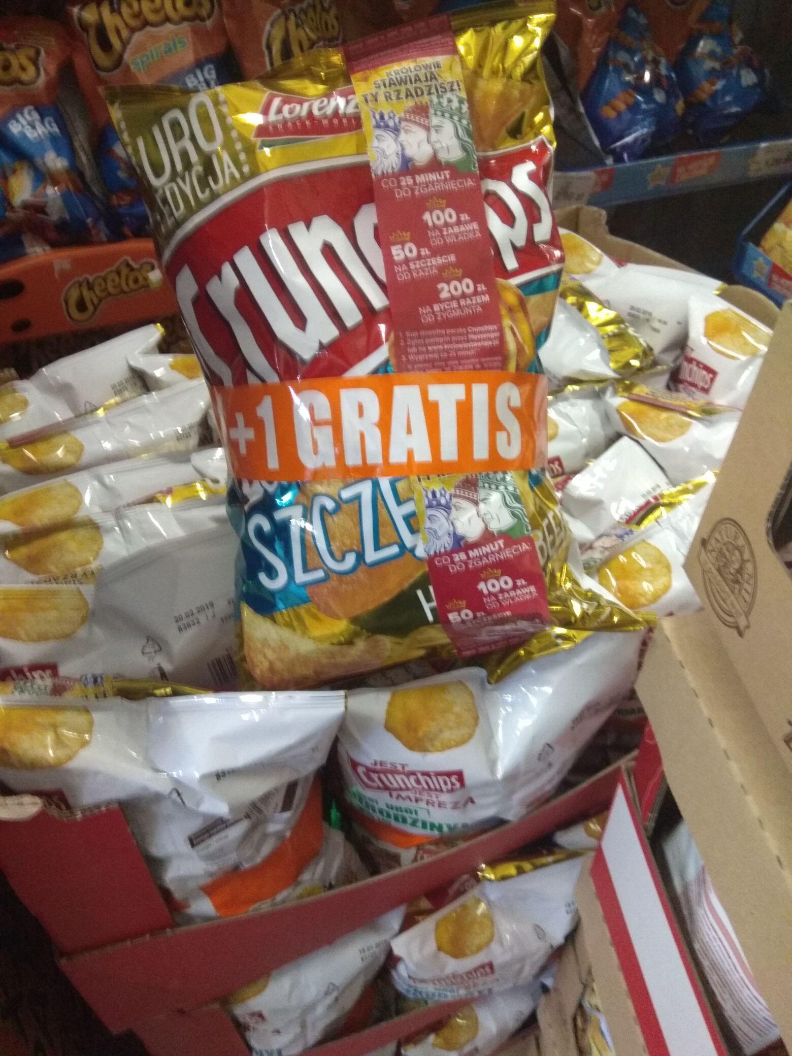 Jedna paczka gratis Crunchips @ Lewiatan