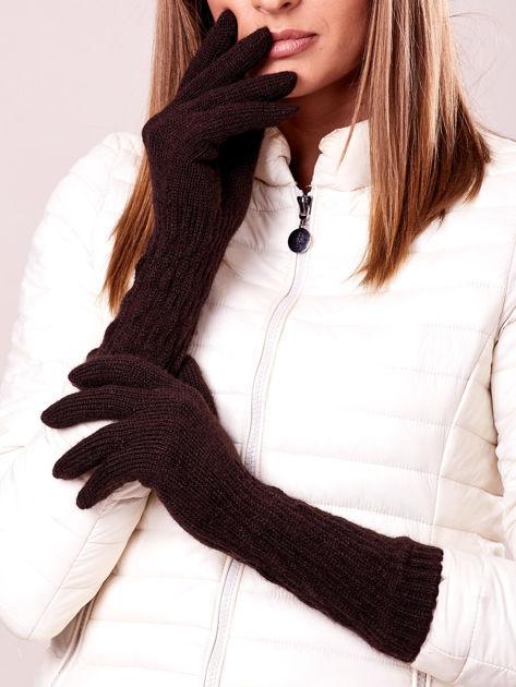 Długie rękawiczki z drapowanym rękawem - super cena