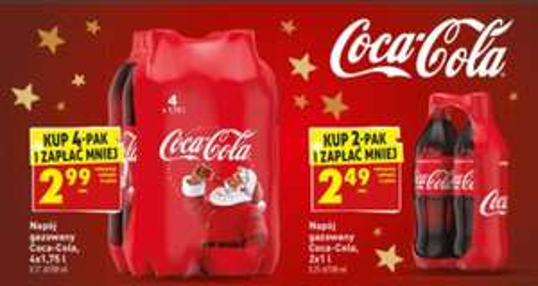 Coca-Cola 4x1,75 litra (1,7 PLN / litr) @Biedronka