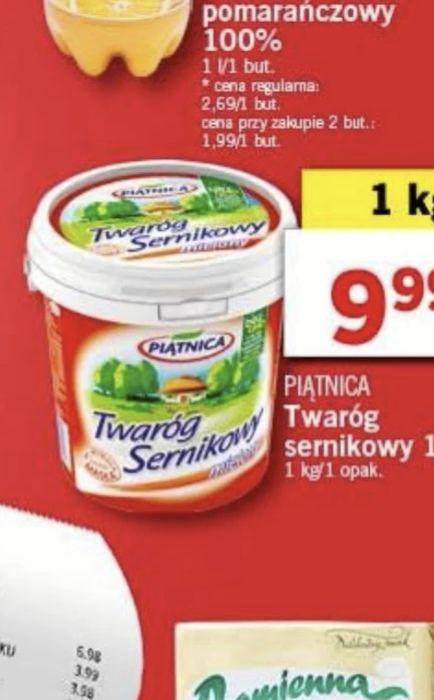 Biedronka/Lidl Świetnej jakości twaróg sernikowy Piątnica
