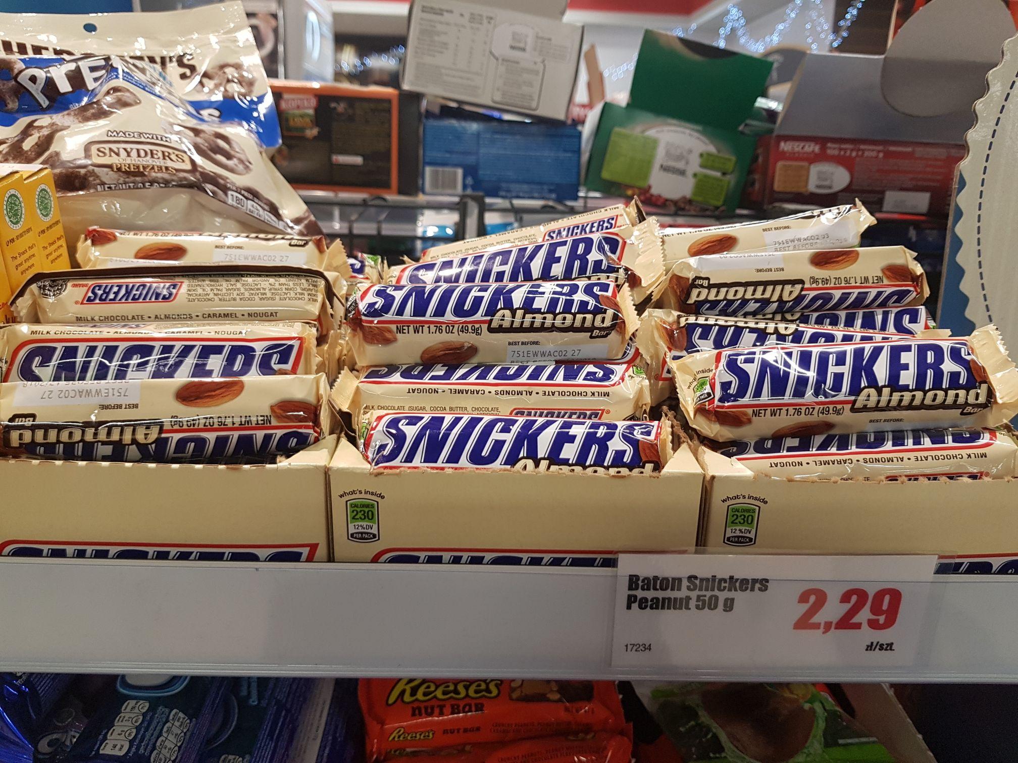 Snickers migdałowy 50g zagraniczny