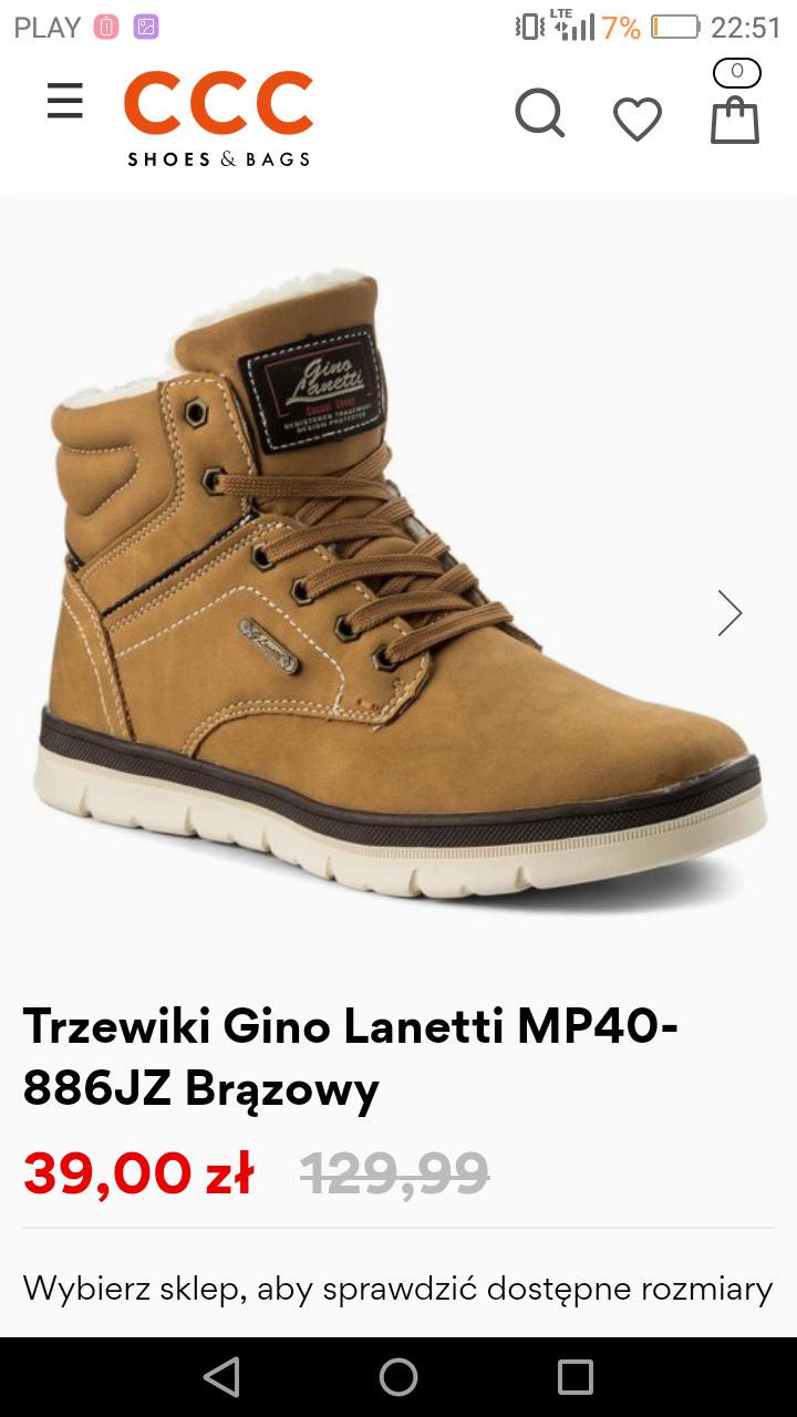 Ocieplane buty męskie