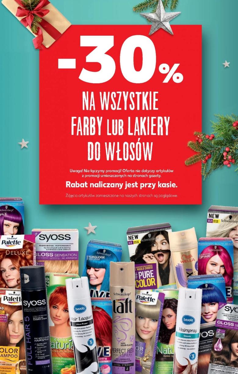 Kaufland -30% na farby i lakiery do włosów