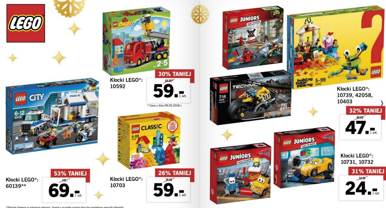 Lego wyprzedaż w Lidlu