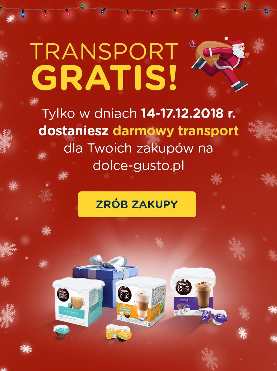 Darmowy transport w dolce-gusto.pl