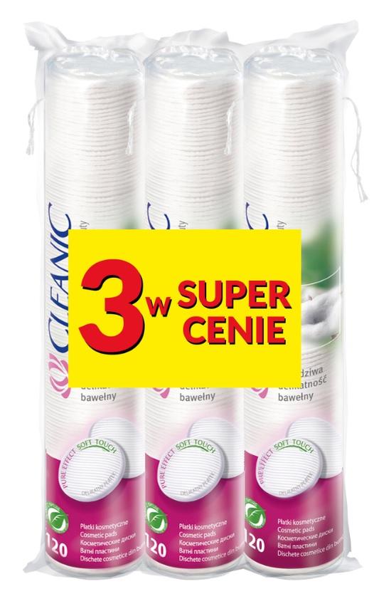 CLEANIC Płatki kosmetyczne 3 w super cenie!