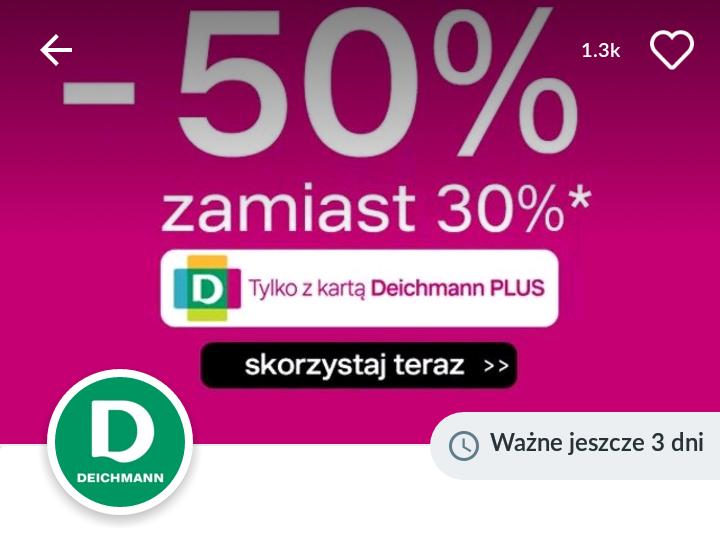Deichmann promocje z karta plus