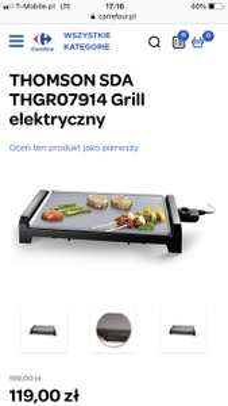 THOMSON SDA THGR07914 Grill elektryczny w Carrefour