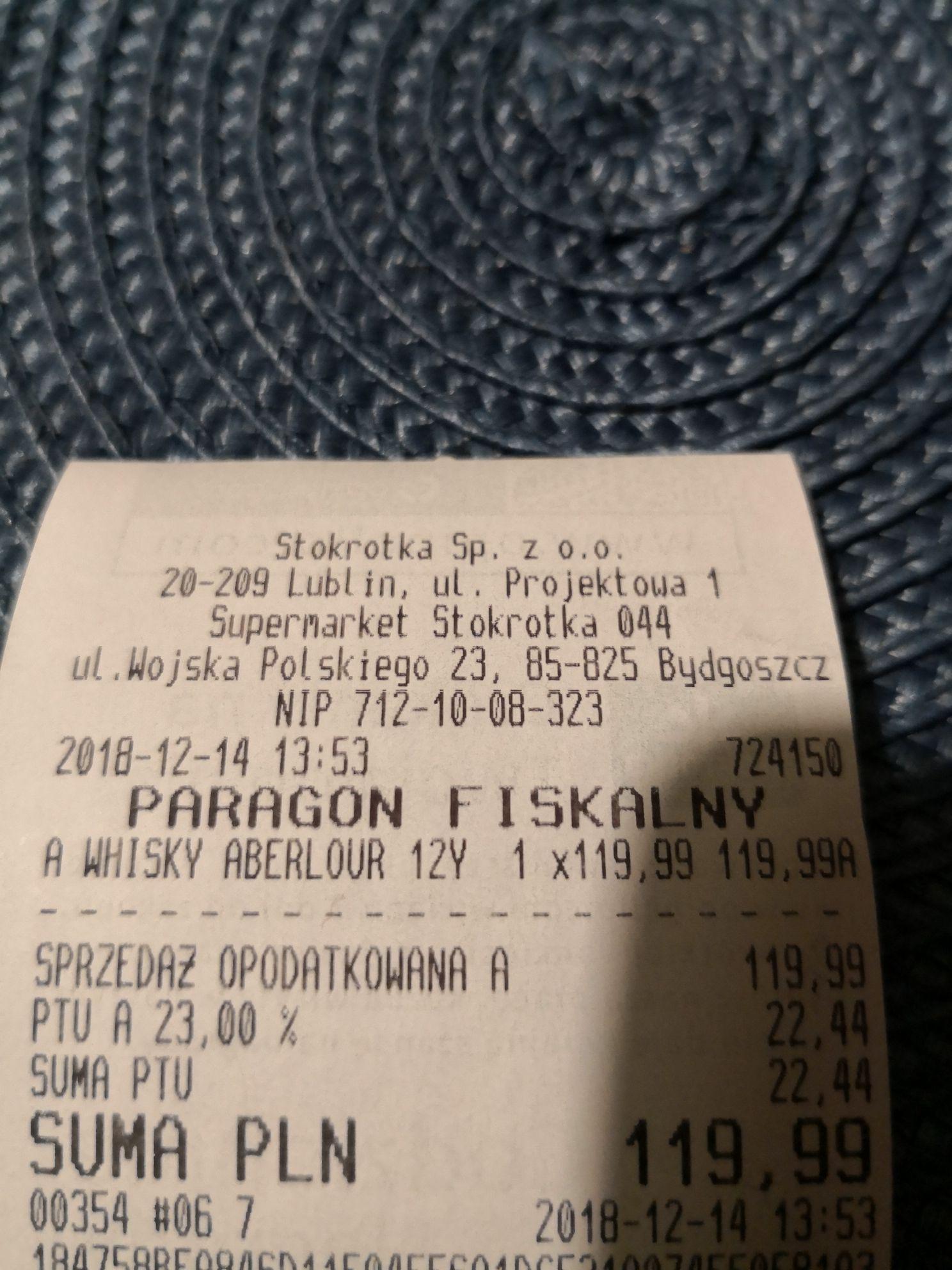 Whisky ABERLOUR 12 0.7L @ Stokrotka