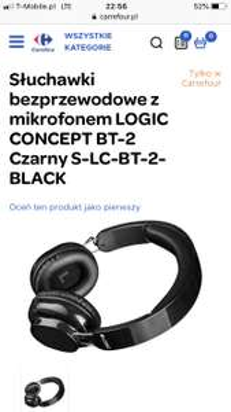 Słuchawki bezprzewodowe z mikrofonem LOGIC CONCEPT BT-2 Czarny S-LC-BT-2-BLACK