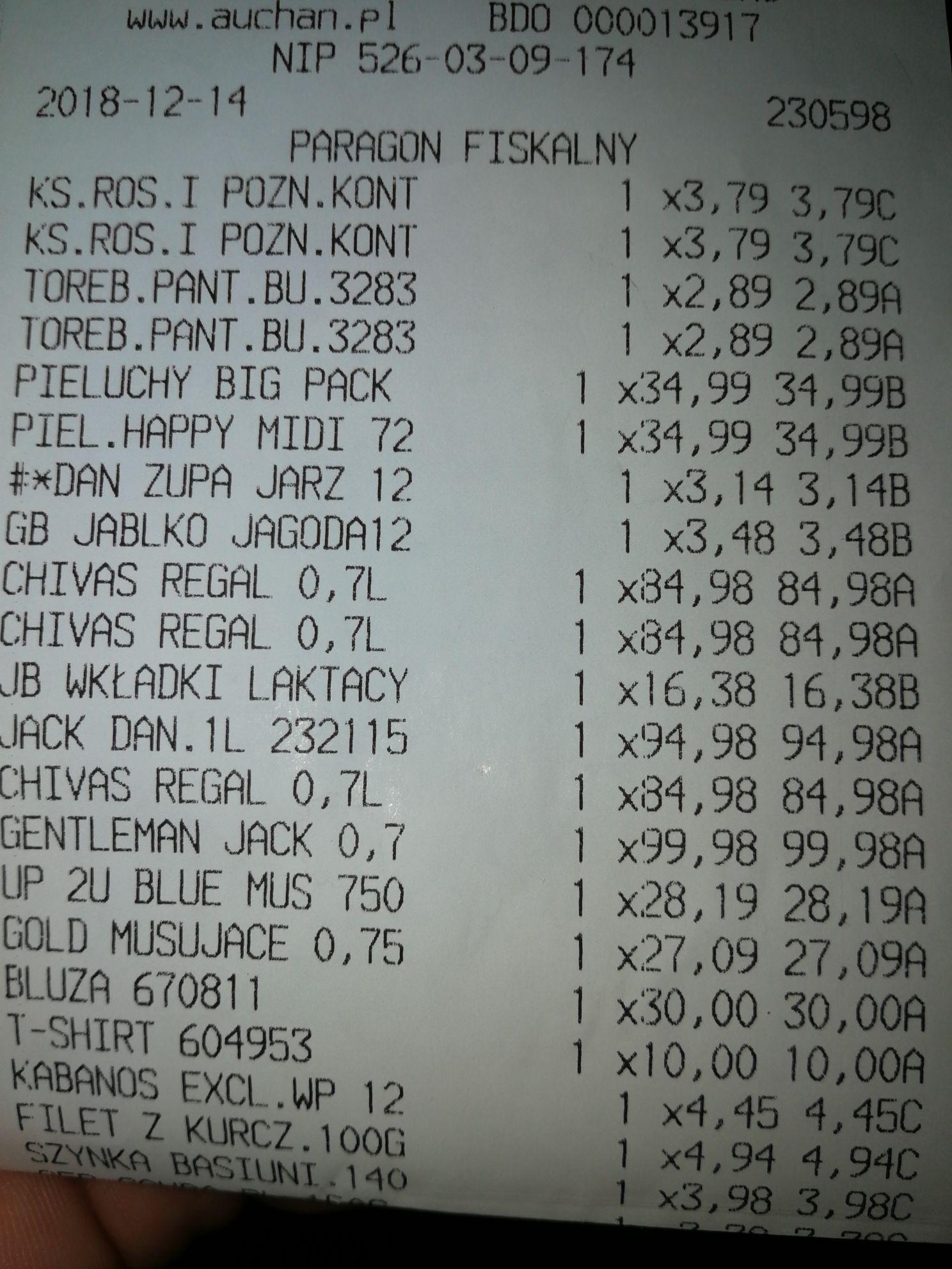 Chivas regal 12 0,7l + 2 szklanki @ Auchan