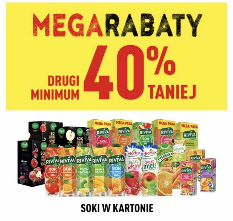 Biedronka. Minimum -40% na drugi sok w kartonie. Mega Rabaty do 19.12.#