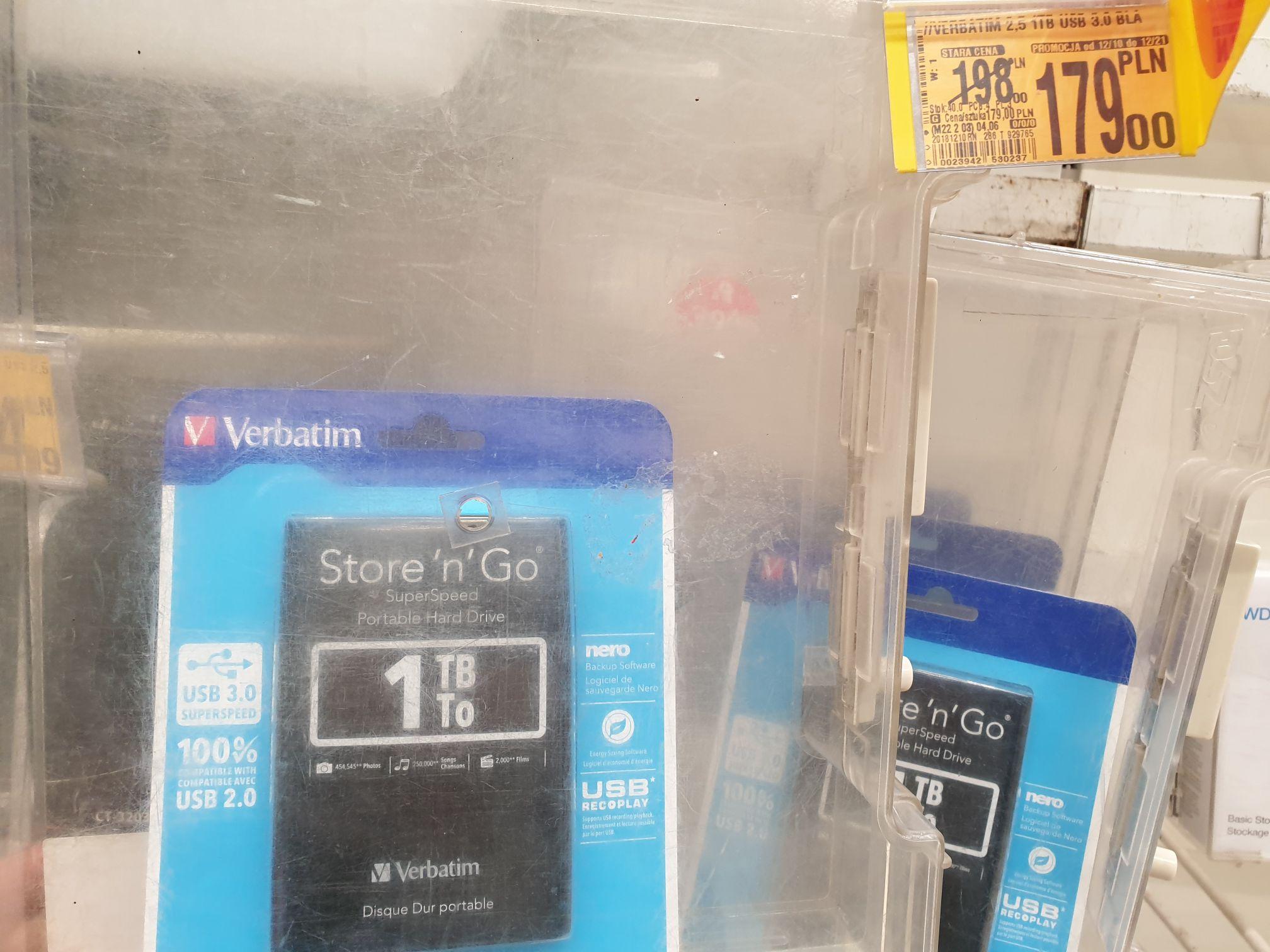 Dysk zewnętrzny Verbatim 2.5 1TB USB 3.0 @ Auchan (Warszawa)