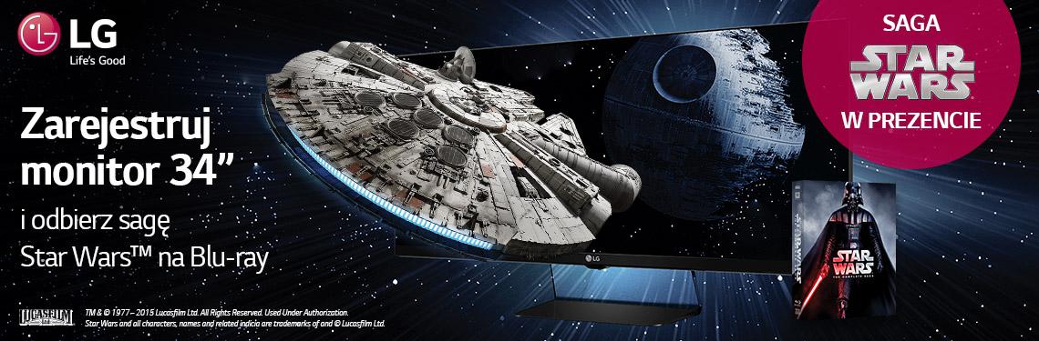 Filmy, gry, figurki Lego Star Wars za kupno monitorów panoramicznych LG