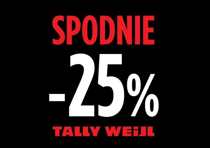 Wszystkie spodnie 25% taniej @ Tally Weijl