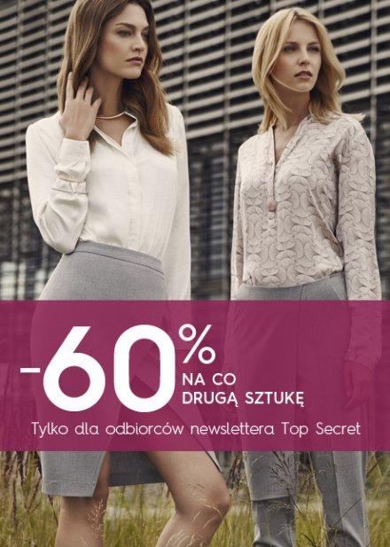 -60% na co drugą sztukę @ Top Secret