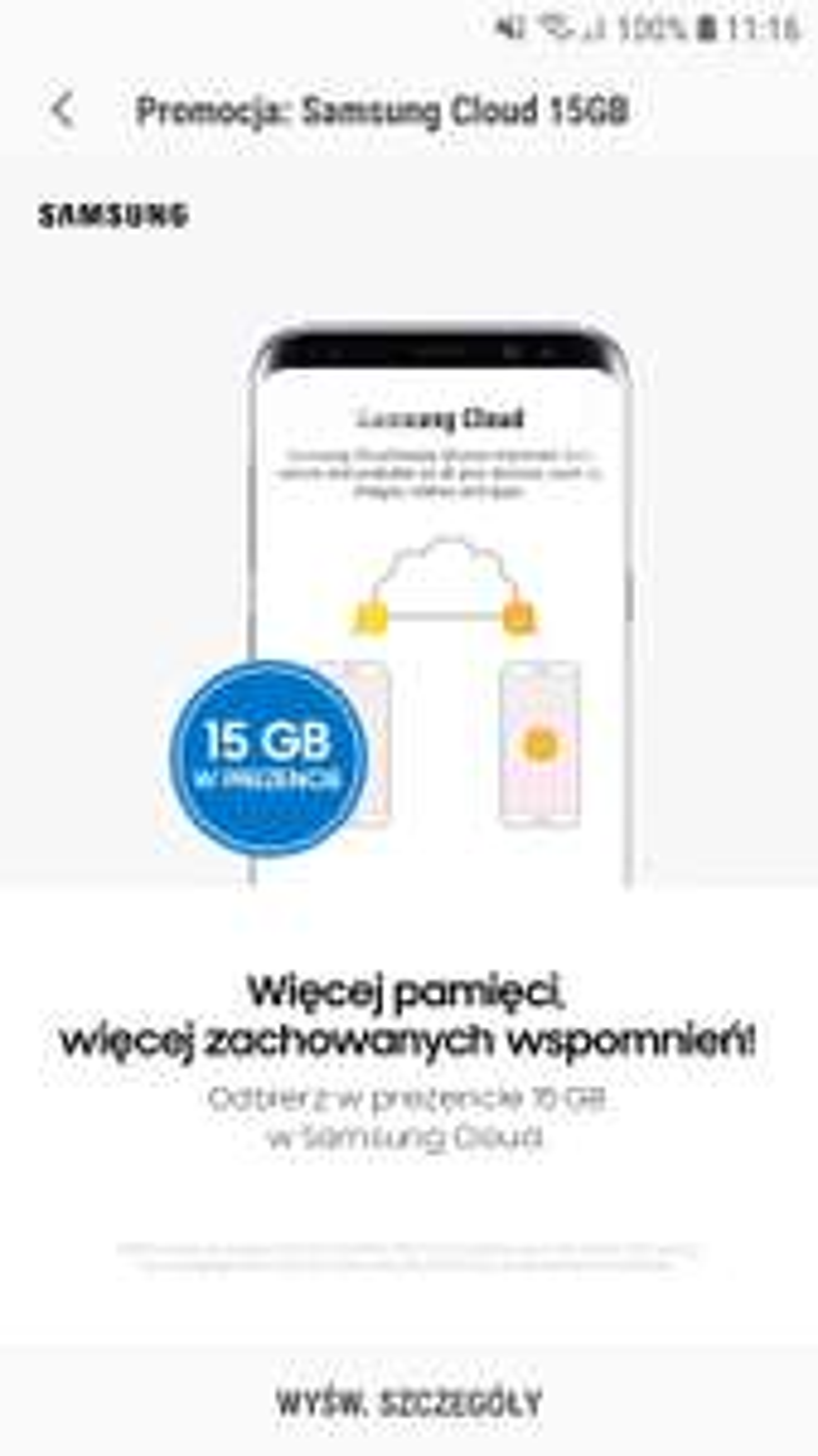Samsung Cloud 15GB w prezencie do 31 grudnia