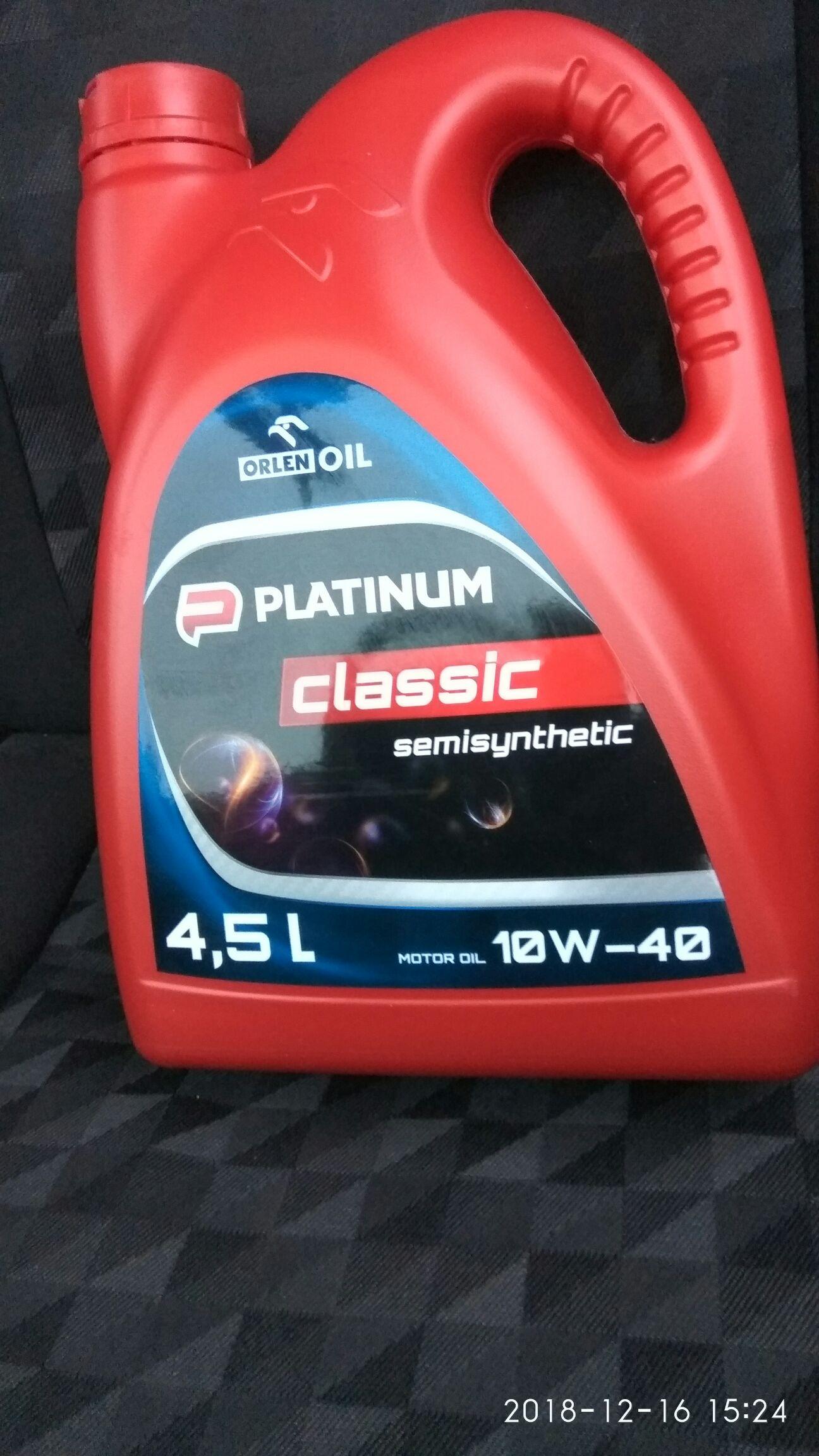 Olej samochodowy 10w40 4,5L Biedronka