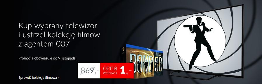 Przy zakupie wybranych modeli telewizorów, kolekcja 22 filmów z Bondem [Blu-Ray] za 1zł @ Euro