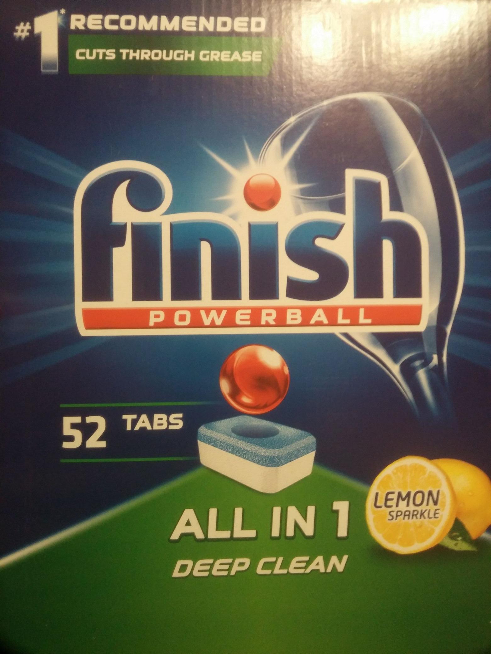 Tabletki do zmywarki Finish powerball All in One 52szt. @ Tesco