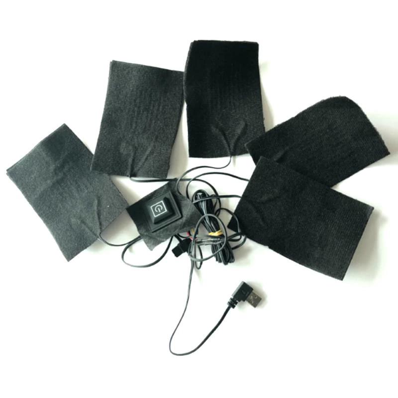 Ogrzewacze USB do kurtki lub podgrzewane rekawiczki.