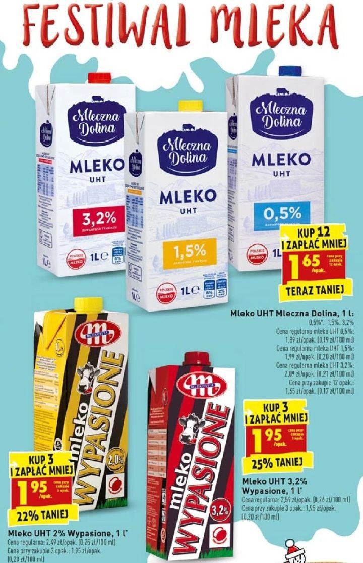 Festiwal mleka: Mleczna Dolina: 1,65zł kupując 12 i Wypasione: 1,95zł kupując 3 @ Biedronka